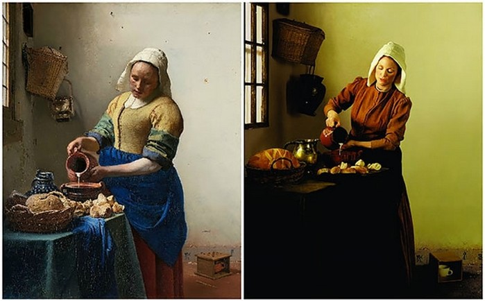 Актриса Джулианна Мур в образе героинь знаменитых картин