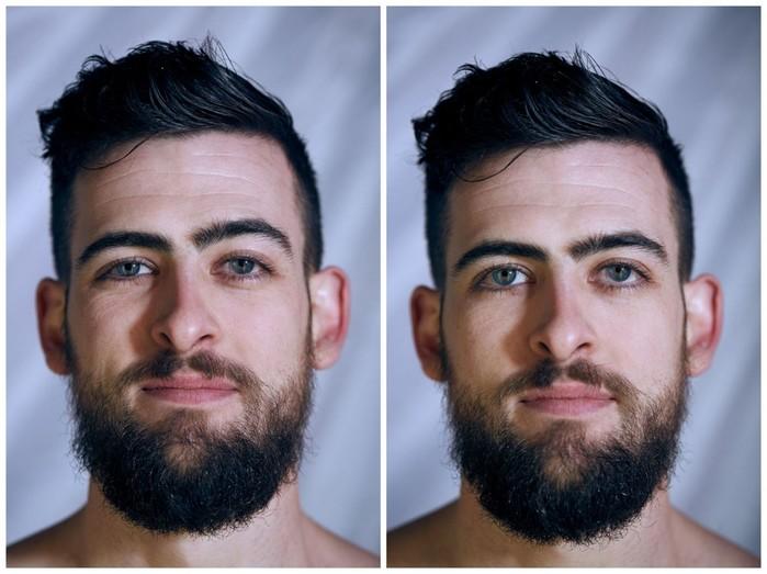 Как отличаются лица людей на фотографиях в одежде и без одежды