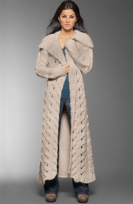 Вязание, пальто Наталья Корякина Простые схемы. Экономим время на