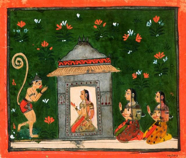 Hanuman Before Sita from the Ramayana