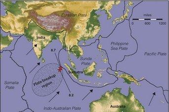 La ruptura en ciernes de la placa tectónica del Índico causará más terremotos