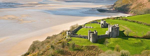 Soñando con caballeros en el castillo de Llansteffan