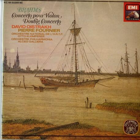 FR VSM 2C181-52289/90 オイストラフ・フルニエ・クレンペラー・ガリエラ・フランス国立放送管・フィルハモニア BRAHMS:Concerto pour Violin&Double Concerto