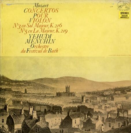 FR VSM CVA736 ユーディ・メニューイン モーツァルト・ヴァイオリン協奏曲3&5番