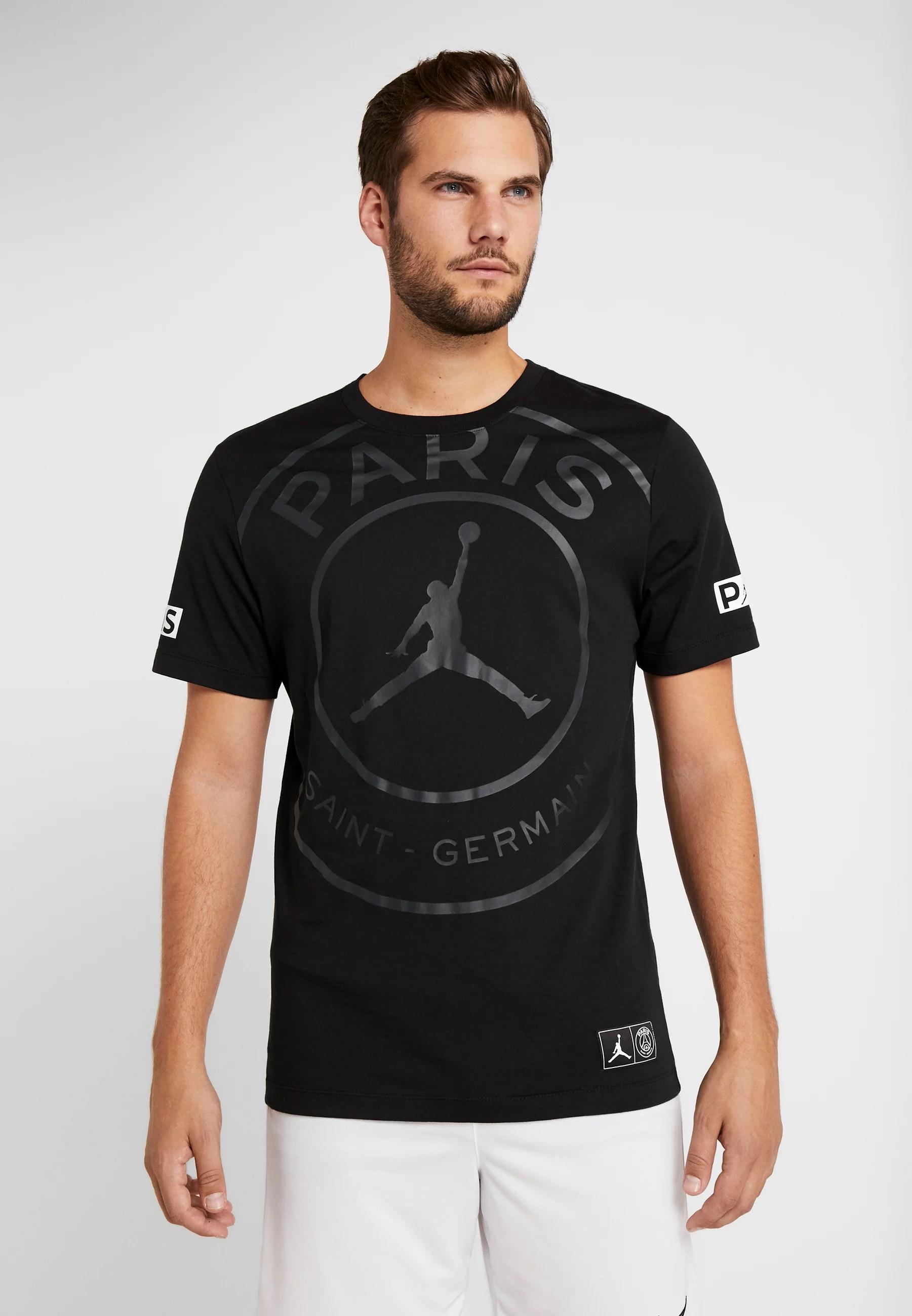 m j psg ss logo tee t shirt print black