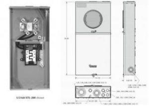 Milbank Series U 125 Meter Socket 150Amp Max Type 3R