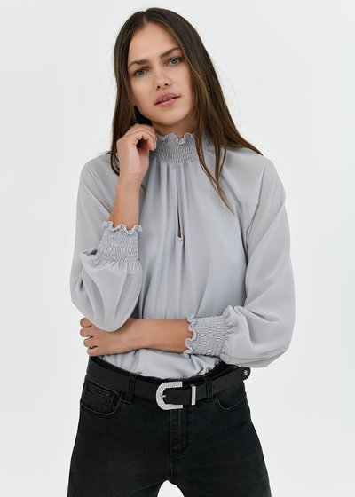 Blusa Sylvia collo alto - Luna - Immagine categoria