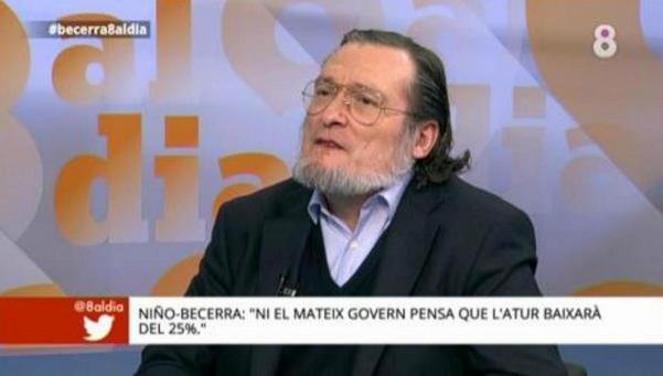 """Niño-Becerra: """"Ni el Gobierno se cree que el paro baje el 25%"""""""