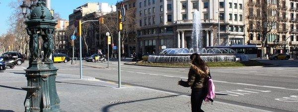 Wallace´s fountain in Passeig de Gràcia