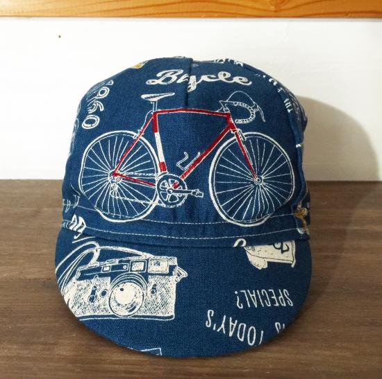 cachalot original handmade cyclecap Bicycle(NAVY)