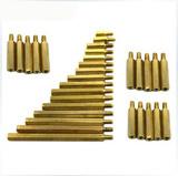 Single copper pillar hexagonal copper stud studs screw pillars spacers M3 series motherboard standoffs
