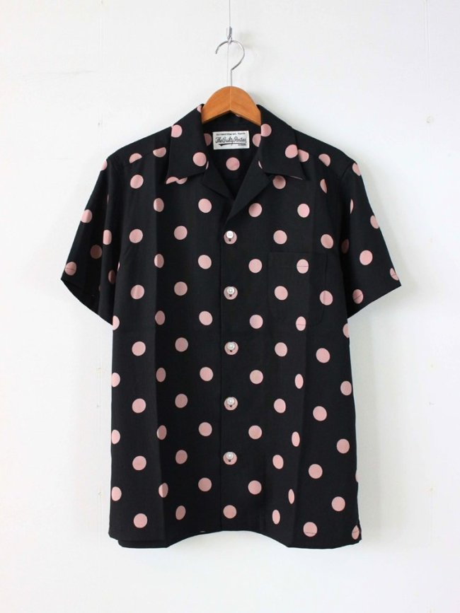 WACKO MARIA|DOTS S/S HAWAIIAN SHIRT #BLACK
