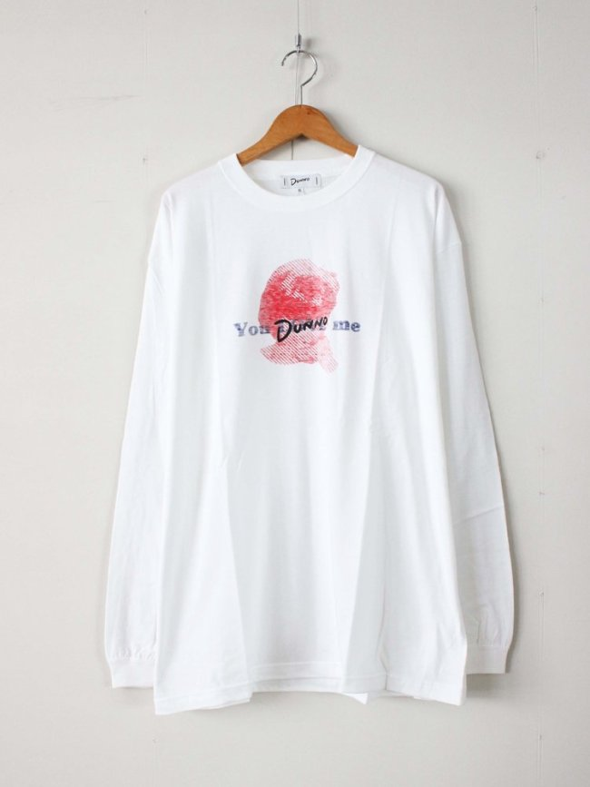 Dunno|Girl You Dunno me L/S Tee #WHITE