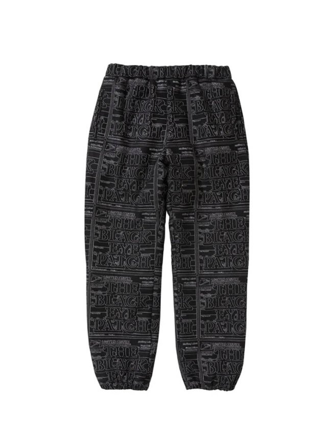 BLACK EYE PATCH PRIORITY LABEL FAKE SUEDE TRACK PANTS #BLACK [BEPSS21PA04]