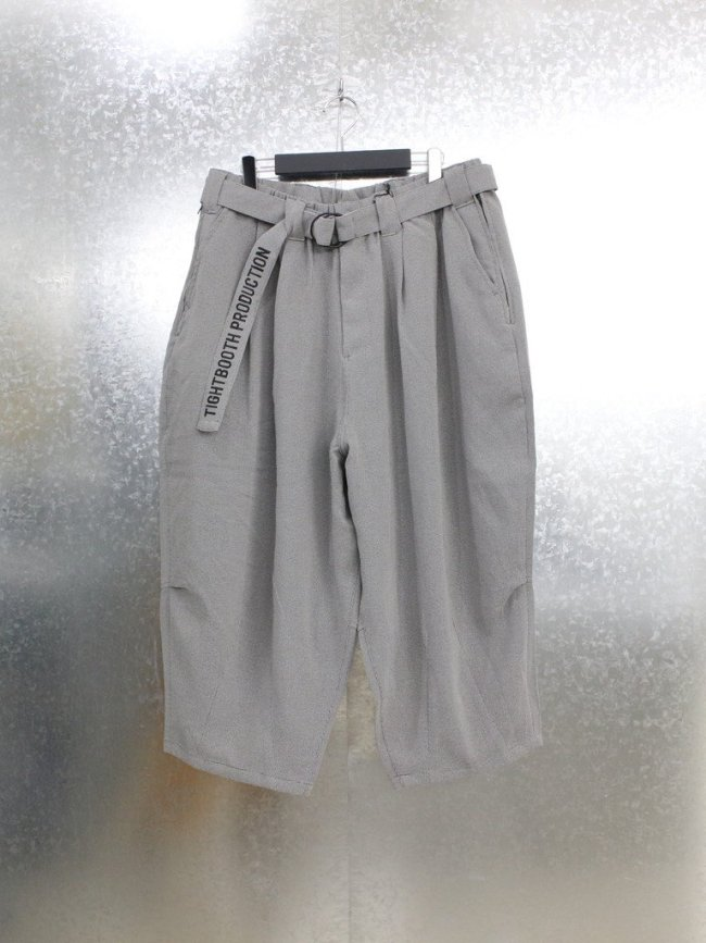 TIGHTBOOTH PRODUCTION|PINHEAD CROPPED PANTS #GREY [SS21-B07]