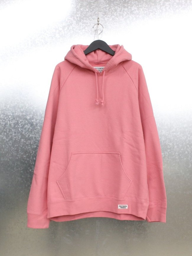 WACKO MARIA WASHED HEAVY WEIGHT PULLOVER HOODED SWEAT SHIRT TYPE 1 #PINK [21FW-WMC-SS05]
