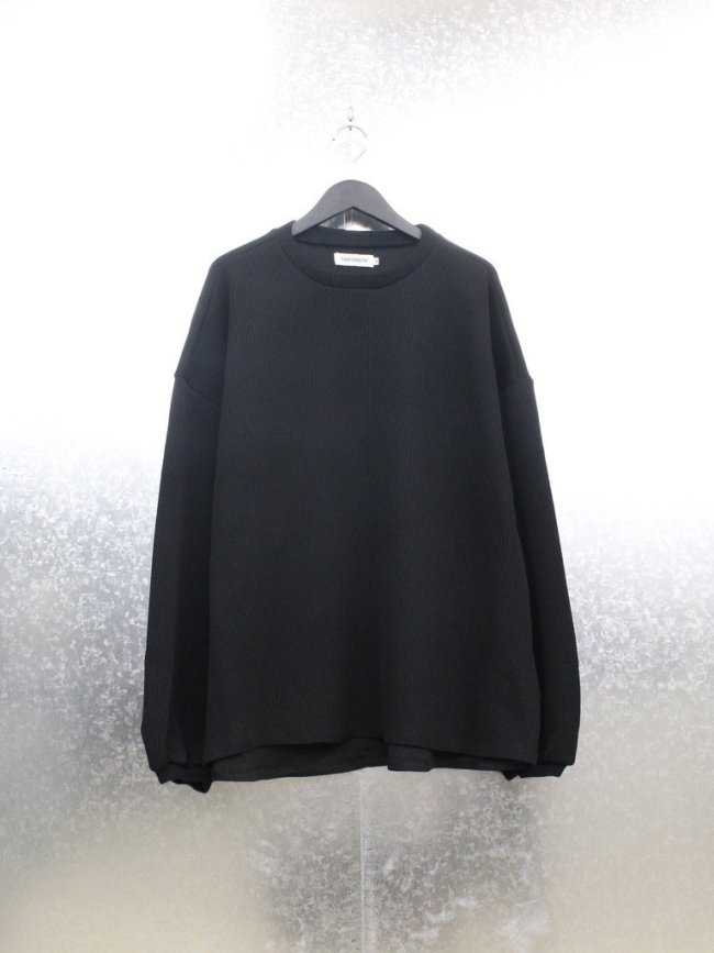 TIGHTBOOTH PRODUCTION|WAFFLE CREW KNIT #BLACK [FW21-KN02]