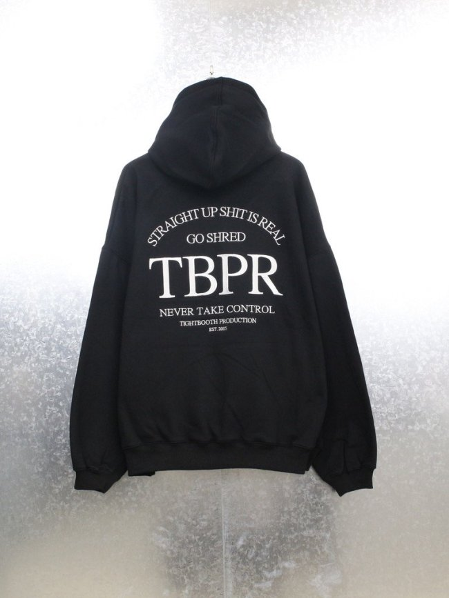 TIGHTBOOTH PRODUCTION STRAIGHT UP HOODIE #BLACK [FW21-SW02]
