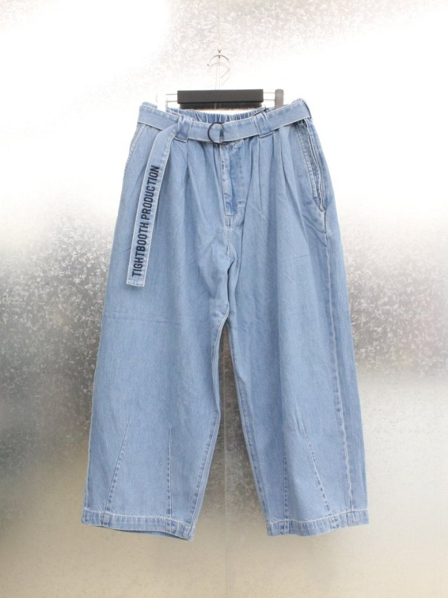 TIGHTBOOTH PRODUCTION DENIM BAGGY SLACKS #BLUE [FW21-B06]