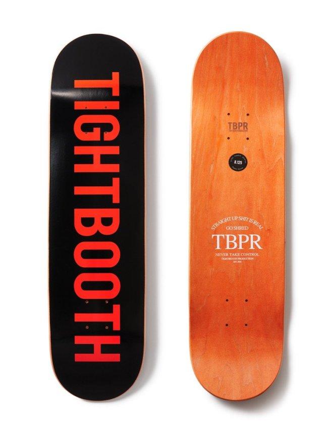 TIGHTBOOTH PRODUCTION|SKATE DECK / LOGO #BLACK [FW-21-LOGOBLK]