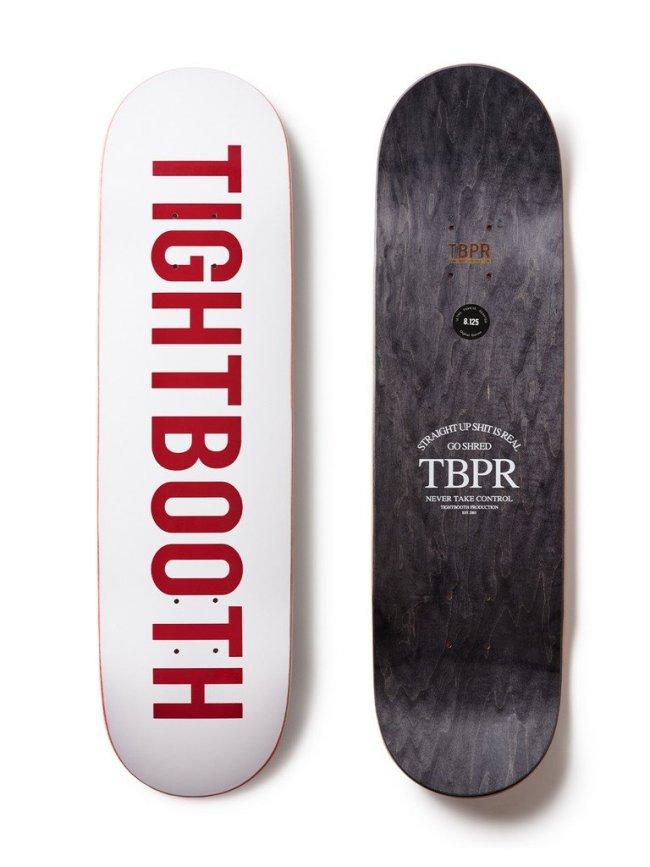 TIGHTBOOTH PRODUCTION SKATE DECK / LOGO #WHITE [FW-21-LOGOWHT]