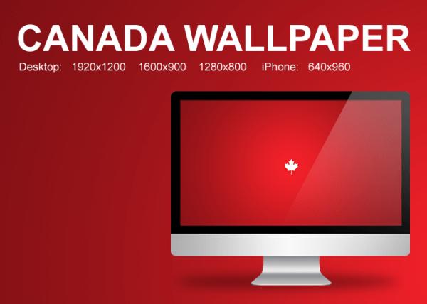 Minimalistic Canada Wallpaper by PaulDoK on DeviantArt