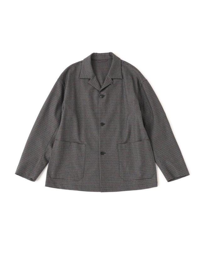 Phlannel|Winter Check Pajamas Jacket #GRAY BASE
