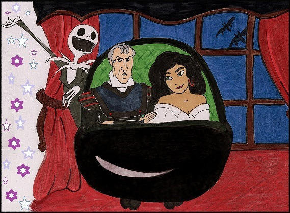 Frollo And Esmeralda On The Haunted Mansion By