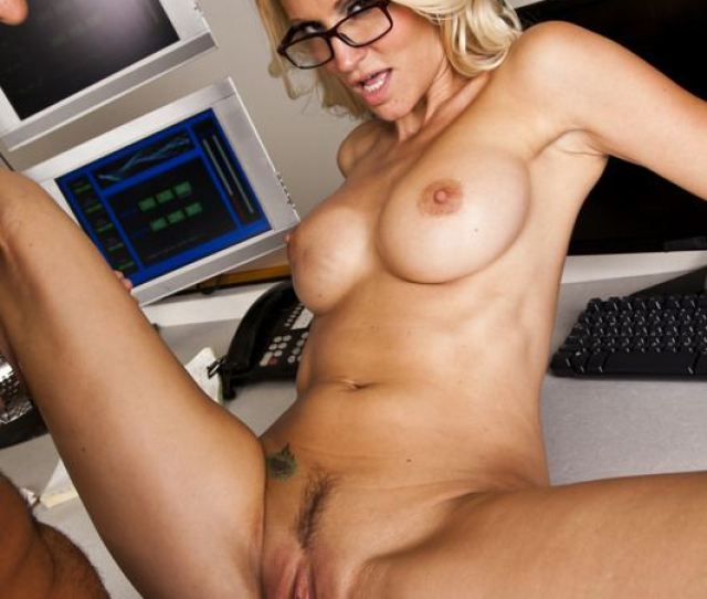 Jessica Drake Rides A Hard Dick On A Desk At The Office Picture