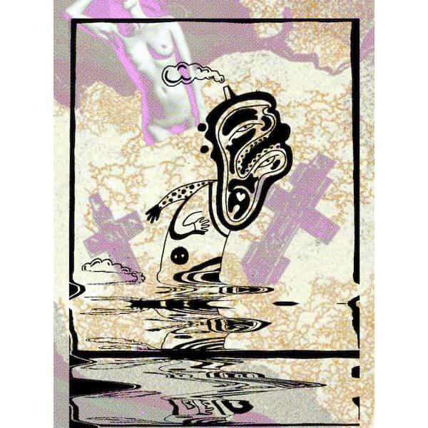 THE BLACK VOMIT / CRAZY DOBERMAN / Split (Cassette)
