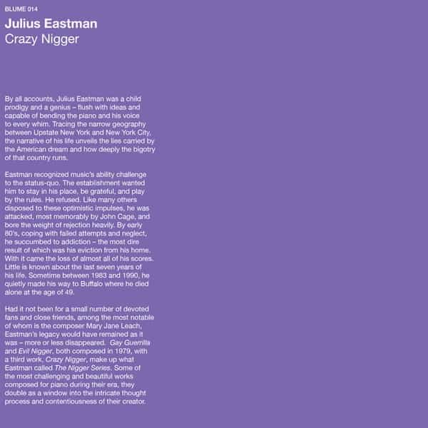 JULIUS EASTMAN / Crazy Nigger (LP)