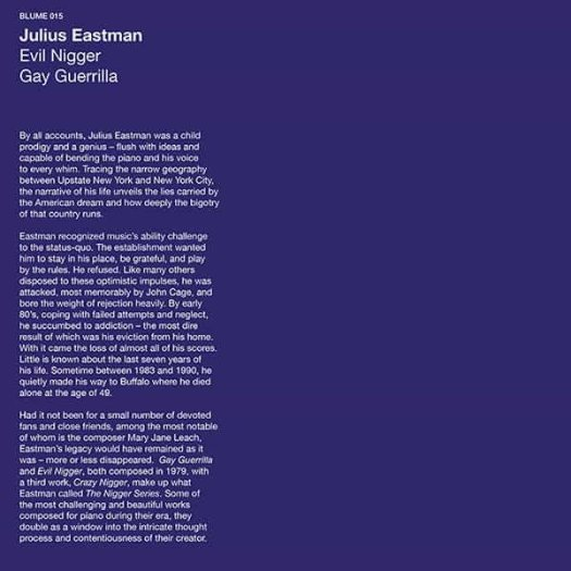 JULIUS EASTMAN / Evil Nigger - Gay Guerrilla (LP)