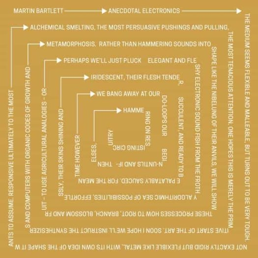 MARTIN BARTLETT / Anecdotal Electronics: Live Experiments & Other Recordings (LP)