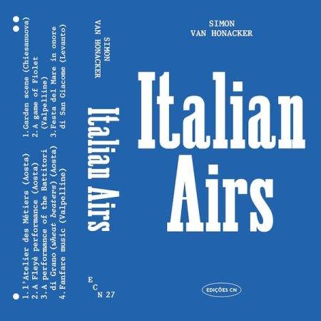 SIMON VAN HONACKER / Italian Airs (Cassette)