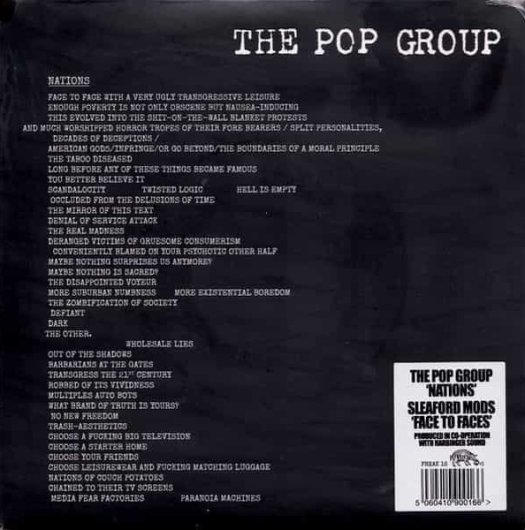 THE POP GROUP / Nations - SLEAFORD MODS / Face To Faces
