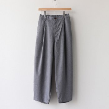 T/R WIDE EGG LONG PANTS #GRAY [A21610] _ HARVESTY | ハーベスティ