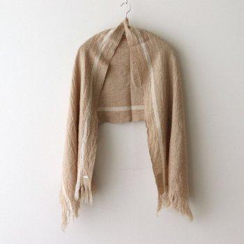 R&D.M.Co- OLDMAN'S TAILOR   オールドマンズテーラー _ WOOL CLOTH MUFFLER #BEIGE×WHITE [no.4542]