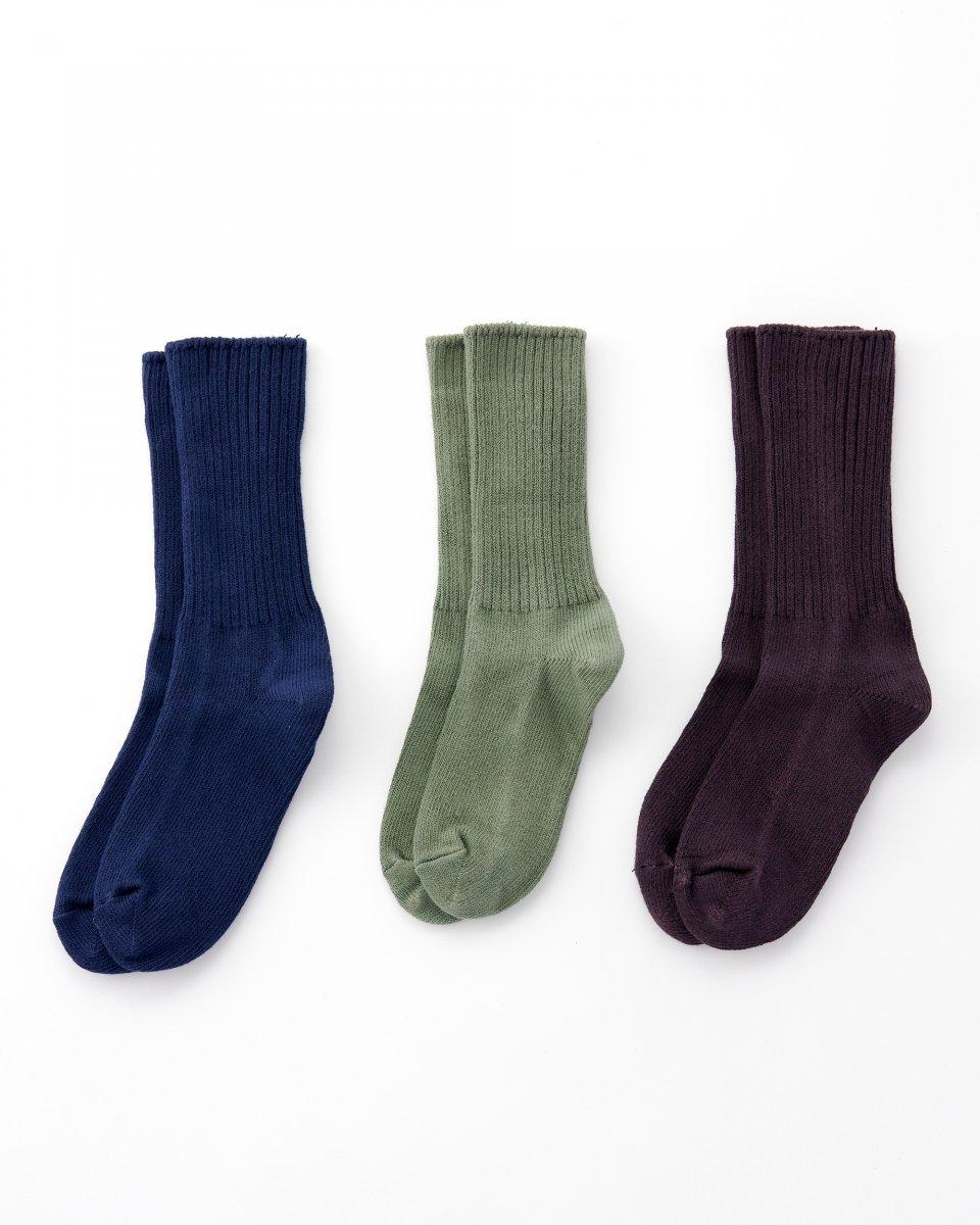 オーガニックコットン靴下 3足パック「ハッとしてグッドなカラー」 の写真