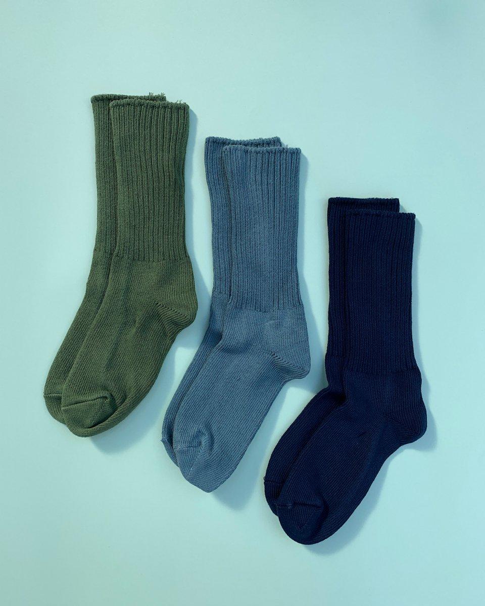 オーガニックコットン靴下 3足パック「海の色グラデーション」の写真