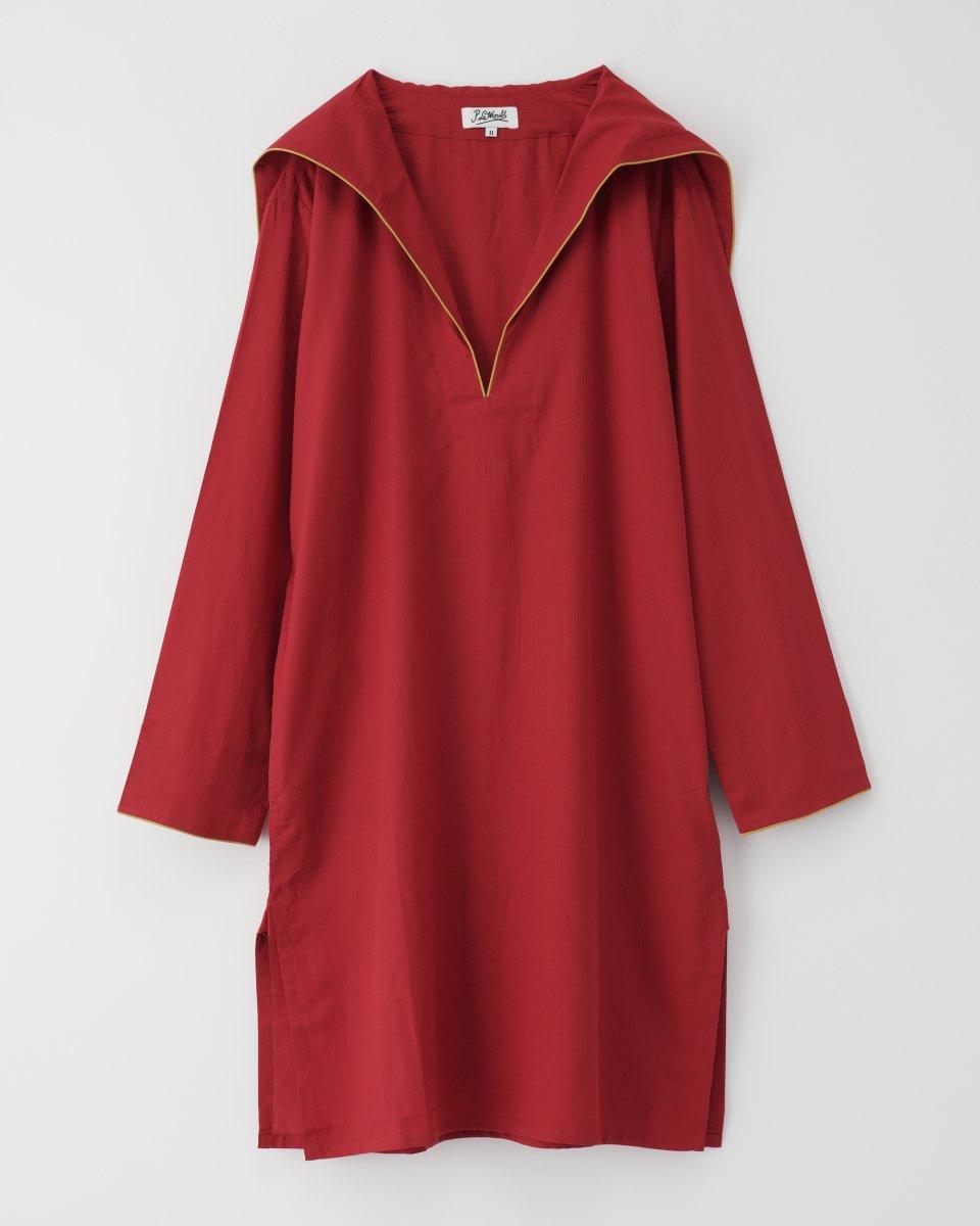 セーラーシャツドレス 赤
