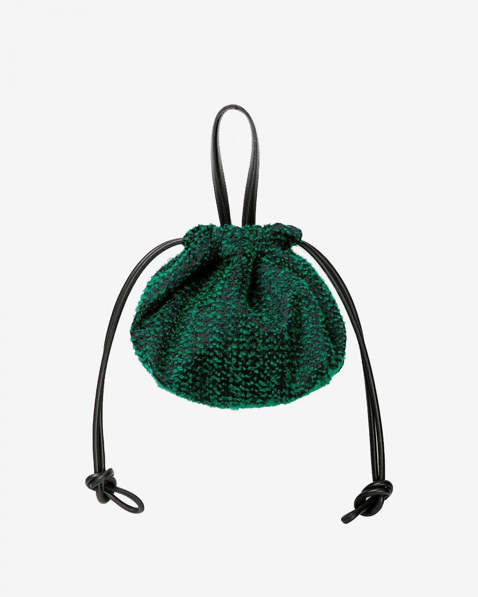 LASTFRAME ニードルパンチ巾着バッグ グリーン