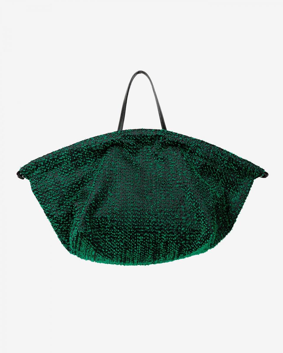 LASTFRAME ニードルパンチ巾着トートバッグ グリーンの写真