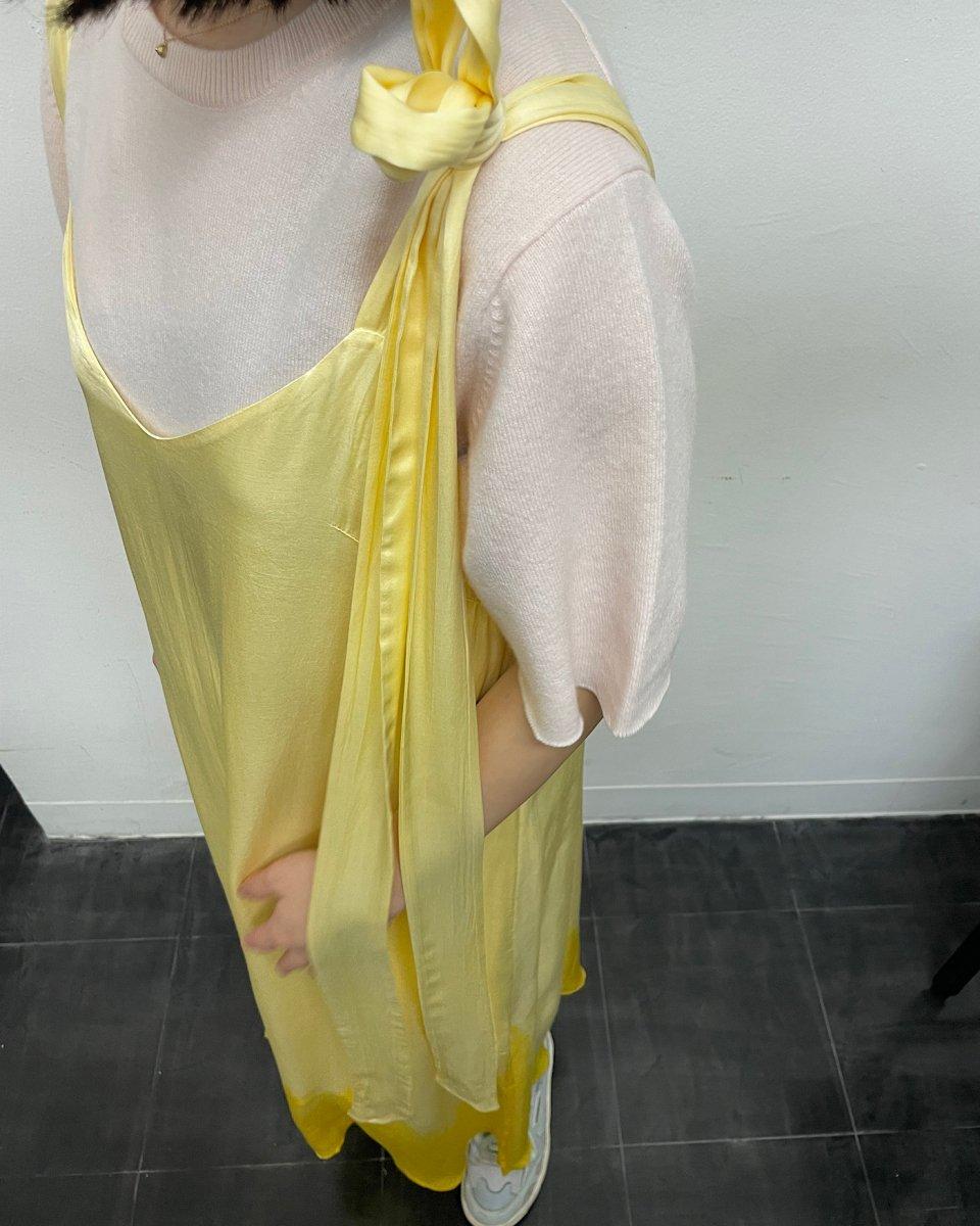 ディップダイスリップドレス イエローの写真