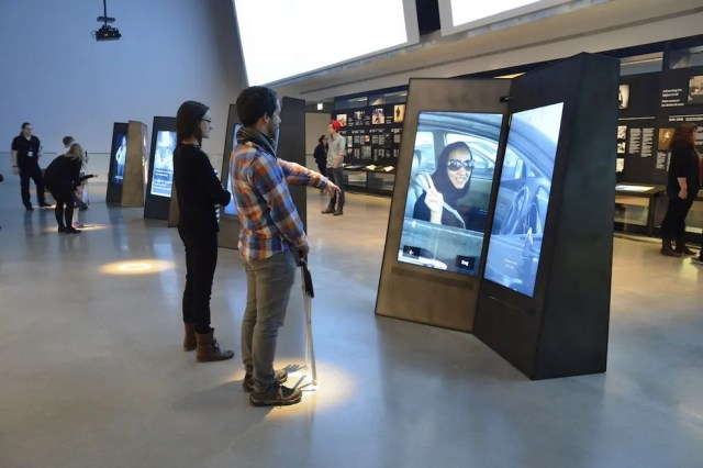 """These interactive """"books"""" teach visitors about human rights"""