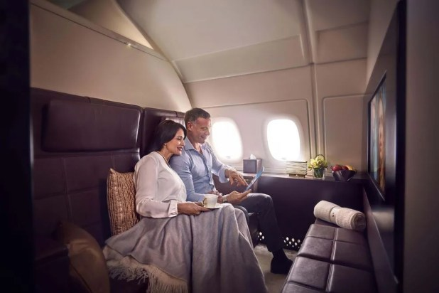 Cuddle up in Etihad Airways' luxurious Residence 3-room suite