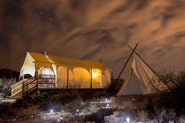 As advertised, you'll be under a canvas when glamping