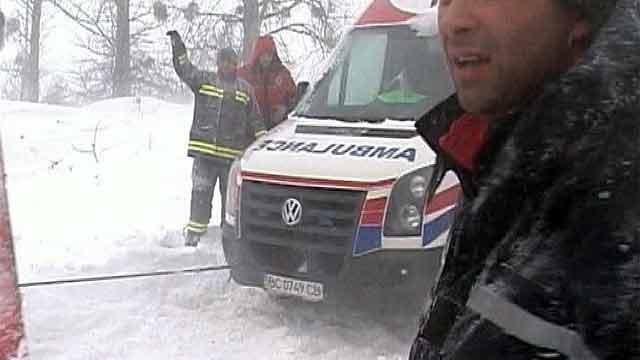 На Украине стихия парализовала движение транспорта