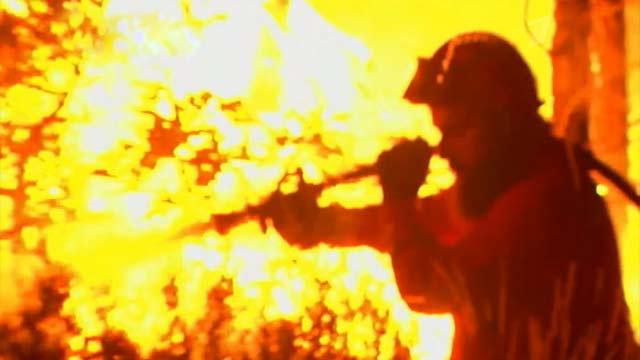 Сильные лесные пожары охватили Старый свет