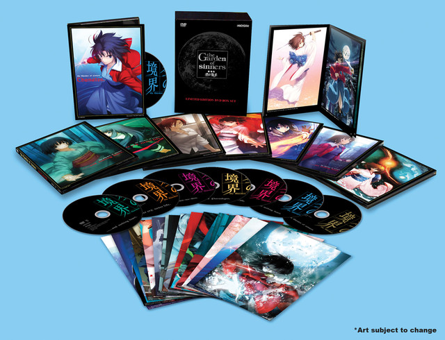 The Garden of Sinners DVD boxset contents