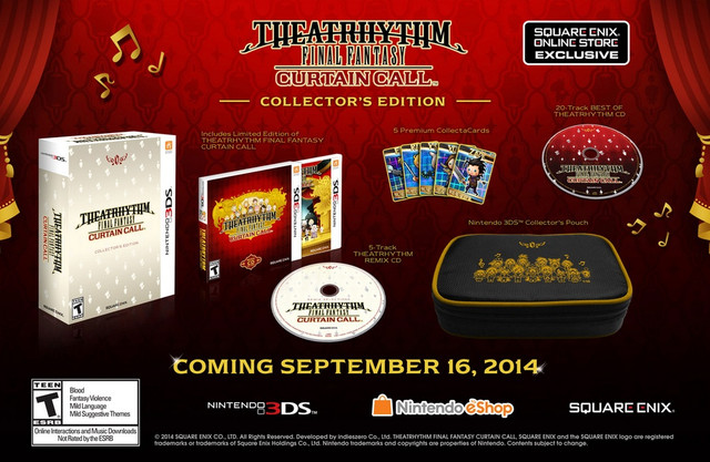 The 69 99 Collector S Edition Includes A Nintendo Pouch 5 Track Theatrhythm Remix Cd 20 Best Of And Premium
